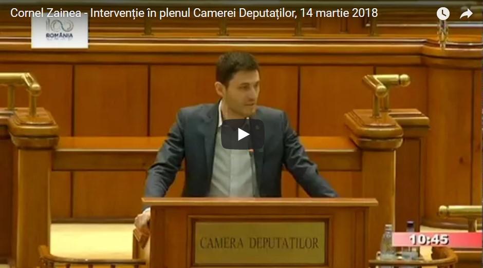 Intervenție în plenul Camerei Deputaților – interzicerea pungilor din plastic