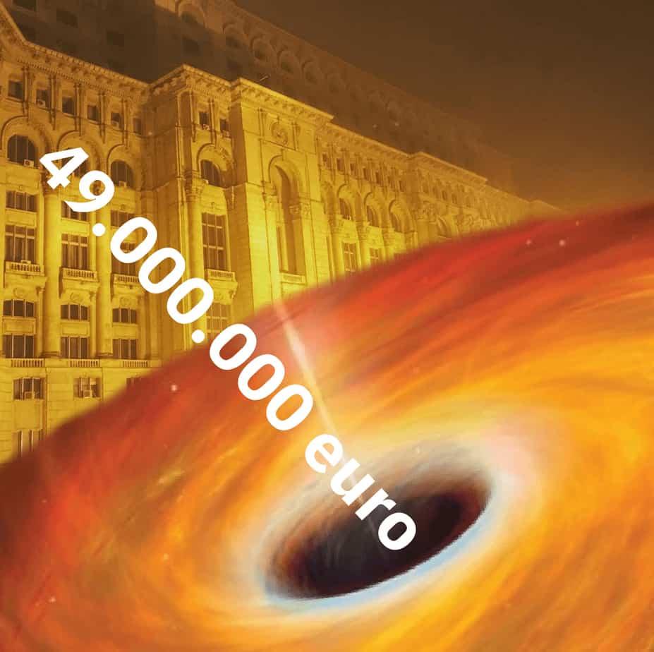 Gaura de 49 de milioane de euro din Parlamentul României